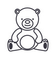 teddy beartoy line icon sign vector image vector image