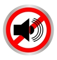 The no sound icon Volume Off symbol Flat vector image vector image