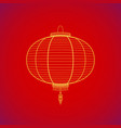 traditional chinese red paper lantern vector image vector image