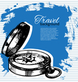 Travel vintage background vector image vector image