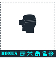 VR icon flat vector image vector image