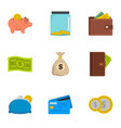 wherewithal icons set flat style vector image