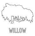 willow icon outline style vector image vector image