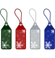 winter or christmas price tags vector image vector image