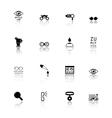 optometry icons set vector image