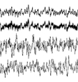 Black music sound waves EPS 10 vector image