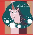 unicorn icon head portrait horse sticker vector image