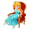 a princess wearing a blue gown vector image
