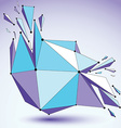 Abstract 3d faceted figure with connected black vector image vector image