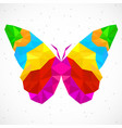 abstract butterfly of colorful triangles vector image