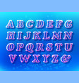 air bubble font vector image vector image