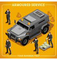 Armoured 02 Vehicle Isometric vector image vector image