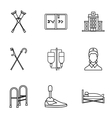 Assistance for disabled icons set outline style vector image vector image