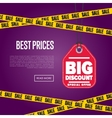 Best price banner with sale sticker vector image vector image