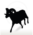 big horn sheep silhouette in running pose vector image