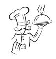 black chef vector image vector image