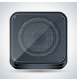 Black loudspeaker icon vector image