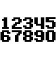 black pixel number set vector image vector image