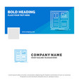 blue business logo template for design grid vector image vector image