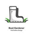 Boot gardener outline flat
