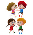 boys and girls dancing vector image vector image