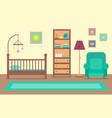 cartoon interior inside baroom with furniture vector image vector image