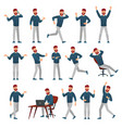 cartoon man in casual outfit male character vector image
