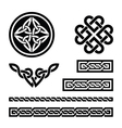Celtic knots braids and patterns vector image vector image