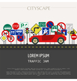 Cityscape graphic template Modern city Tr