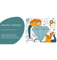 concept of jewelry industry vector image
