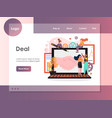 deal website landing page design template vector image