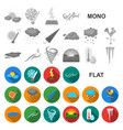 Different weather flat icons in set collection for