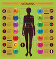 Effect of vitamins vector image vector image