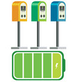 electric car charger battery vector image