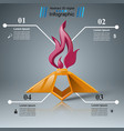 eternal flame - business infographic vector image vector image