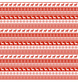 ethnic nordic pattern with deer vector image vector image