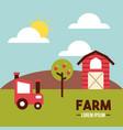 farm lorem ipsum flat vector image