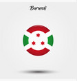 flag burundi icon vector image