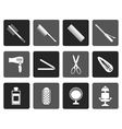 Flat hairdressing coiffure and make-up icons vector image vector image
