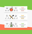 food and cooking horizontal banners vector image vector image