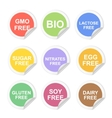 food dietary labels icon set Gluten and vector image vector image