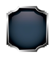 frame with silver border isolated icon design vector image