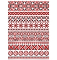 Geometric ornament ethnic embroidery vector image