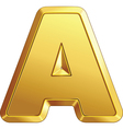 gold bar letter a vector image vector image