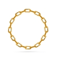 Gold Chain Frame Round vector image vector image