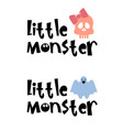halloween typography logo design with quotes vector image