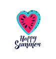 happy summer day logo creative template with vector image vector image
