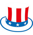 hat uncle sam eps 10 vector image vector image