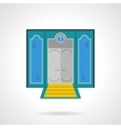 Hotel entrance flat color icon vector image vector image