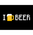 I Love Beer vector image vector image